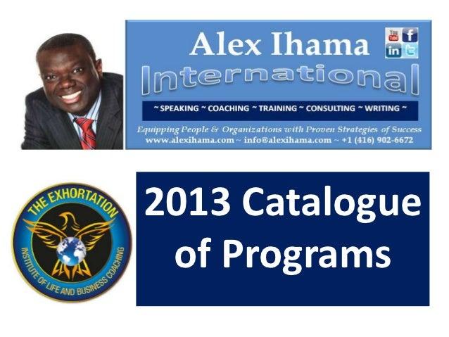 2013 Catalogue of Programs