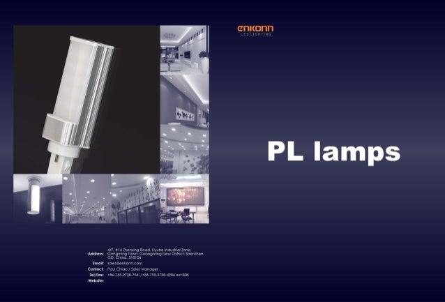 Catalogue PL lamps enkonn