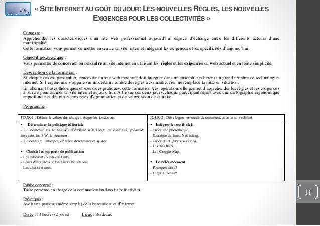 « SITE INTERNETAU GOÛT DU JOUR: LES NOUVELLES RÈGLES,LES NOUVELLESEXIGENCES POUR LES COLLECTIVITÉS »Contexte :Appréhender ...