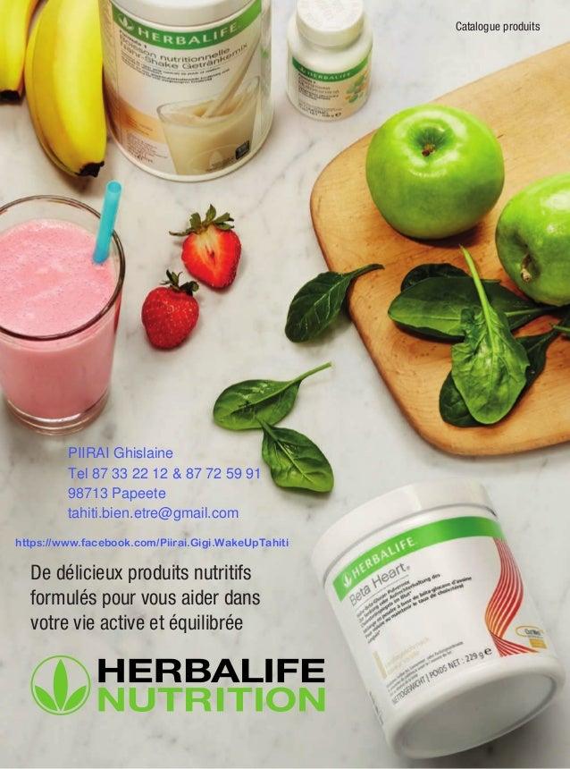 Catalogue produits De délicieux produits nutritifs formulés pour vous aider dans votre vie active et équilibrée PIIRAI Ghi...