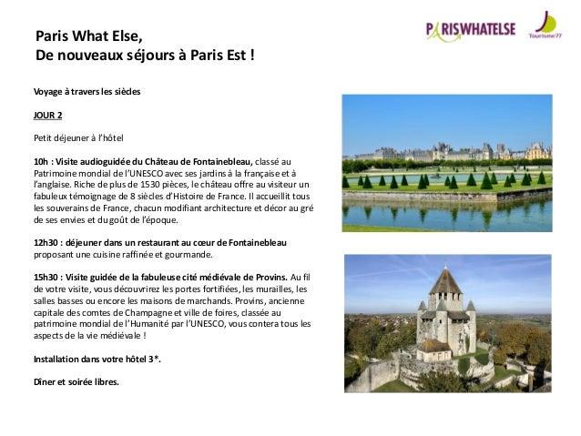 Catalogue Produits Groupes 2015 Paris Est