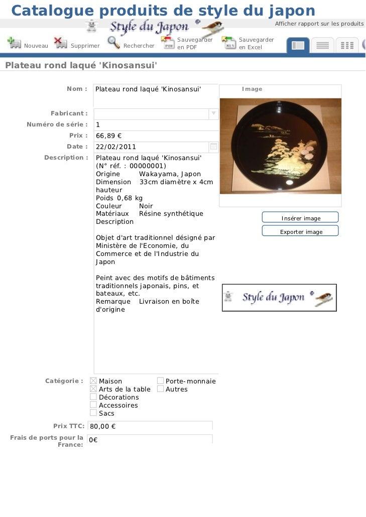 Catalogue produits de style du japon                                                                                   Aff...