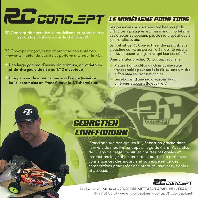 NITRO ENGINES OFF ROAD 1/8 Caractéristiques • La culasse a été développée par RC Concept après de nombreux essais. Les ai...