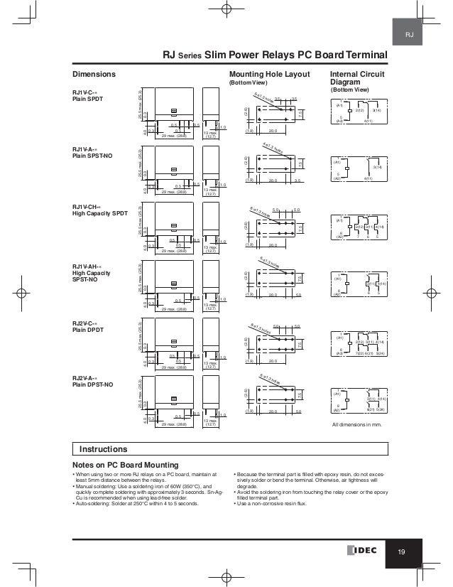 catalog relay idec beeteco com idec solid state relay wiring diagram plainrj1v high capacity; 20