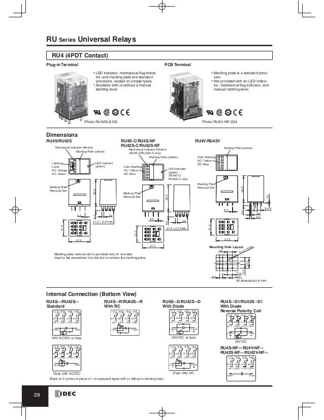 catalog relay idec beeteco comIdec Relay Wiring Diagram Free Picture Schematic #21