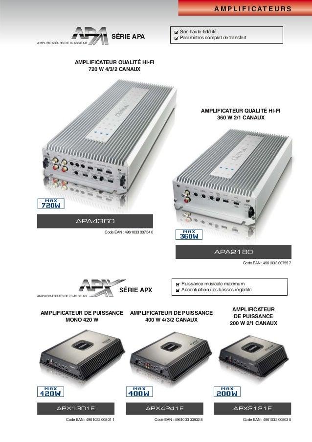 A M P L I F I C AT E U R S APA4360 APX4241EAPX1301E APX2121E APA2180 AMPLIFICATEUR QUALITÉ HI-FI 720 W 4/3/2 CANAUX AMPLIF...