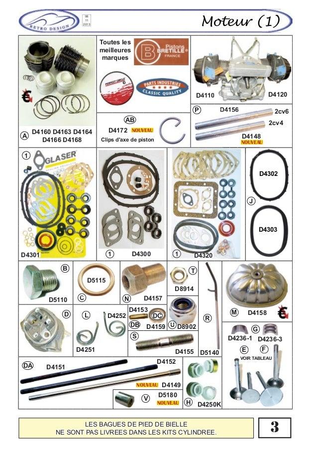 catalogue special pieces moteur 2cv dyane acadiane mehari