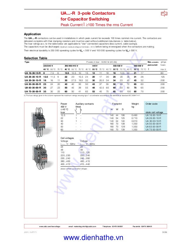 31: Abb A5030 Contactor Wiring Diagrams At Johnprice.co