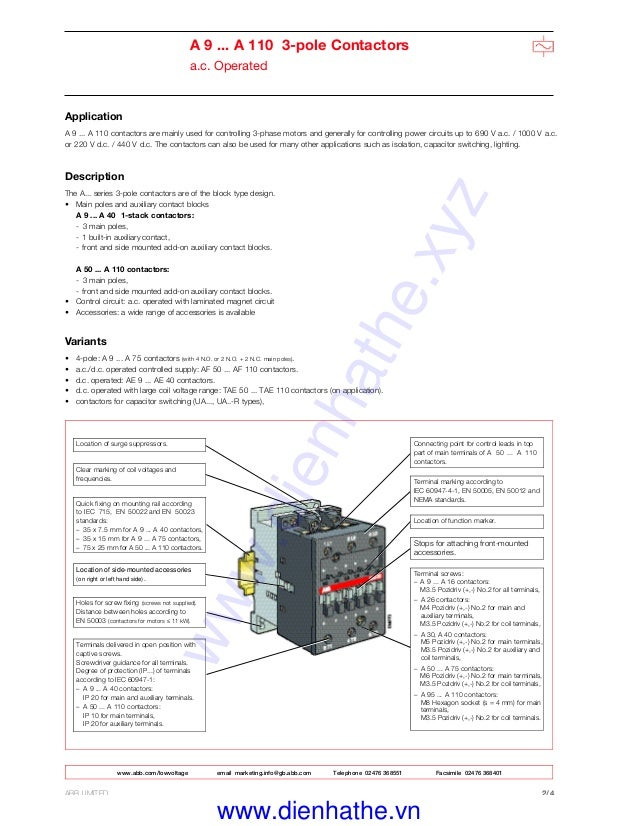 Astounding Abb Contactor Wiring Diagram Basic Electronics Wiring Diagram Wiring Database Numdin4X4Andersnl