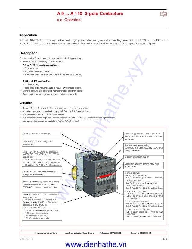 Superb Abb Contactor Wiring Diagram Basic Electronics Wiring Diagram Wiring 101 Akebretraxxcnl