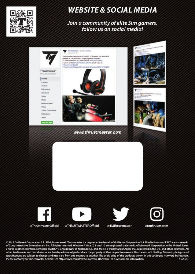 Thrustmaster catalogue 2019 (all ranges)