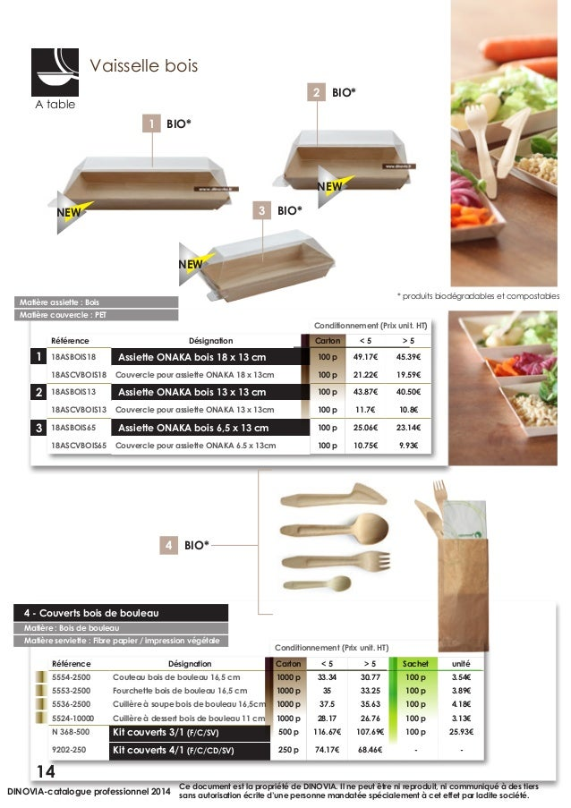 Catalogue vaisselle jetable pro dinovia 2014