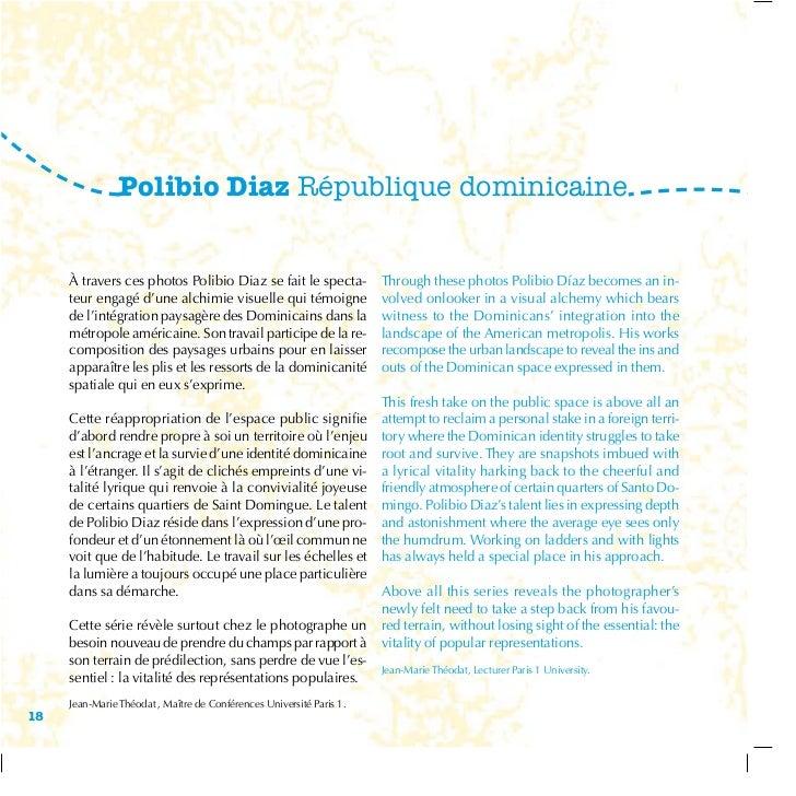 Polibio Diaz République dominicaine     à travers ces photos Polibio Diaz se fait le specta-             Through these pho...