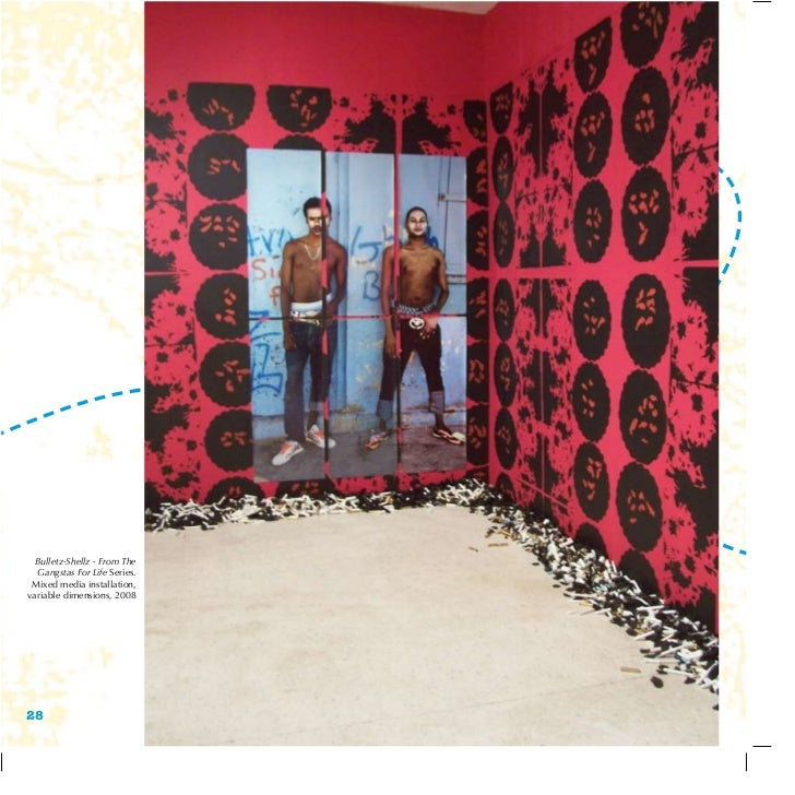 Bulletz-Shellz - From The  Gangstas For Life Series. Mixed media installation,variable dimensions, 200828