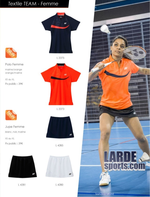 Catalogue textile Yonex Larde Sports 2014 Slide 3