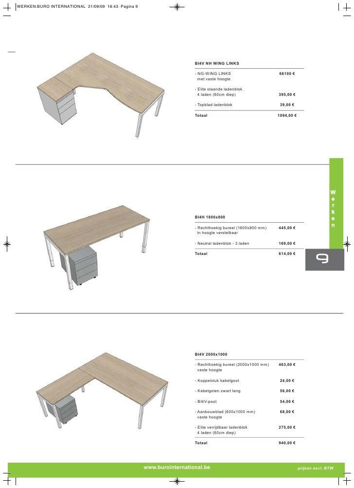 Brochure bureaus en kantoormeubelen leverbaar binnen 48h for Zwevend ladenblok