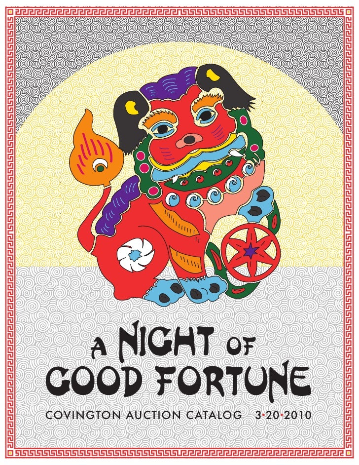 night of      a good fortune COVINGTON AUCTION CATALOG   3 20 2010