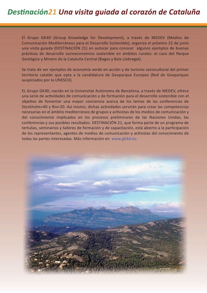 Des nación21 Una visita guiada al corazón de Cataluña   El Grupo GK4D (Group Knowledge for Development), a través de MEDEV...