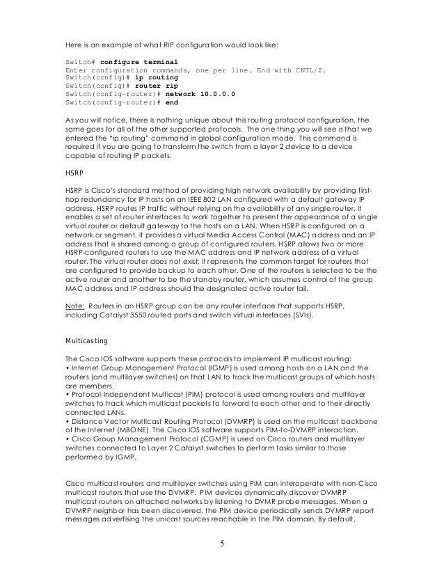 Catalyst 3550 Manual