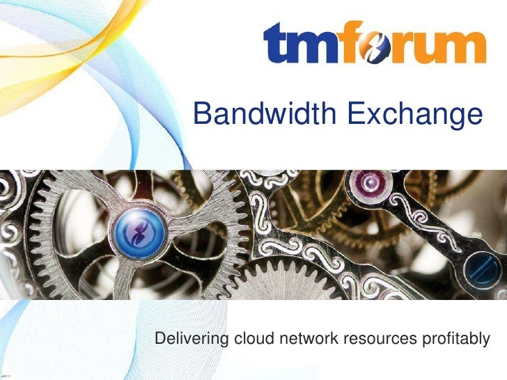 Bandwidth Exchange                                            Delivering cloud network resources profitably          © 201...