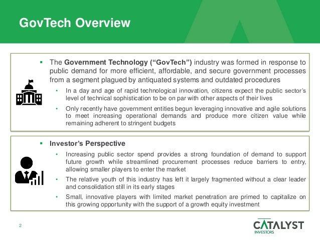 GovTech Market Overview  Slide 2