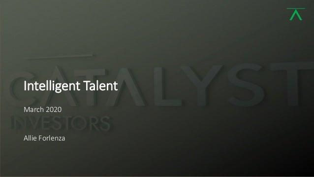 1 Intelligent Talent March 2020 Allie Forlenza
