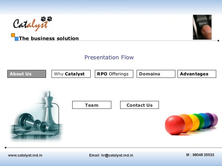 The business solution                           Presentation FlowAbout Us       Why Catalyst      RPO Offerings   Domains ...