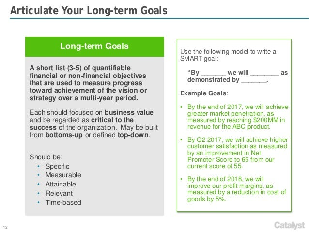 examples of short term goals for a new business
