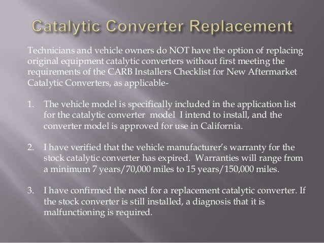 VVC AUTO 85 5 - Smog Technician - Level 1 - Catalytic