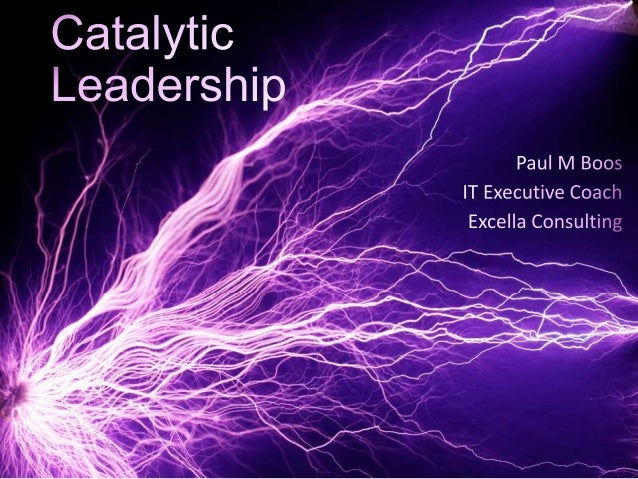Define Catalytic Leadership Relationships of Leadership, Change, and Culture Leadership Concepts to Support Change: 1. Any...