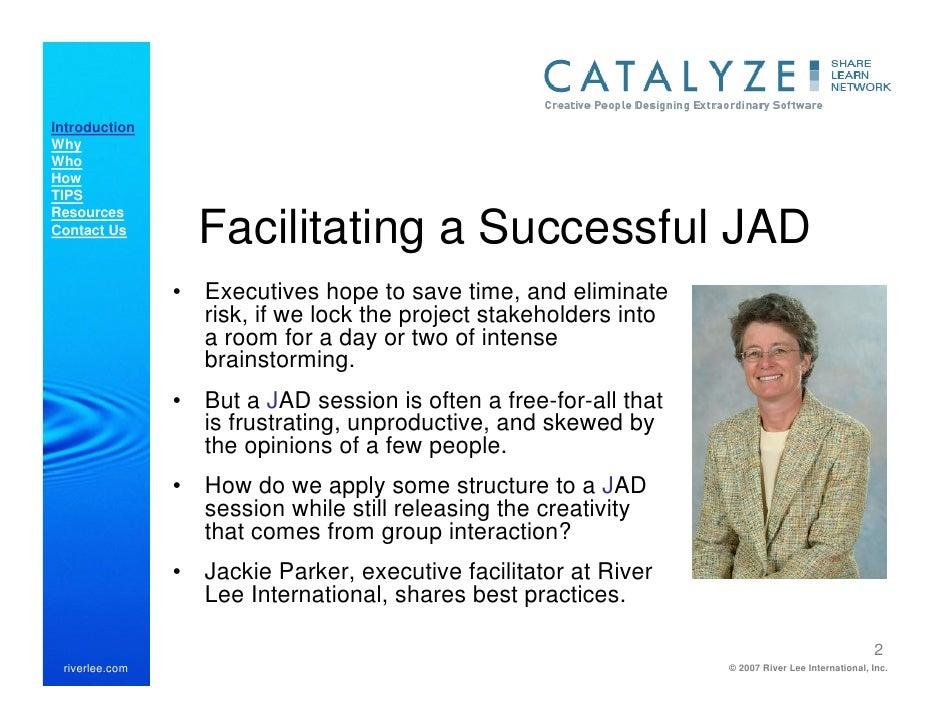 catalyze webcast facilitating jad sessions