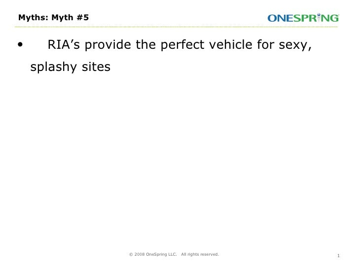 Catalyze Webcast - Five Myths Of RIA With Laurie Gray - 031808 slideshare - 웹