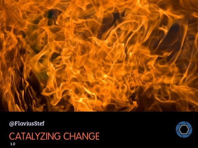 @FlaviusStef  CATALYZING CHANGE 1.0