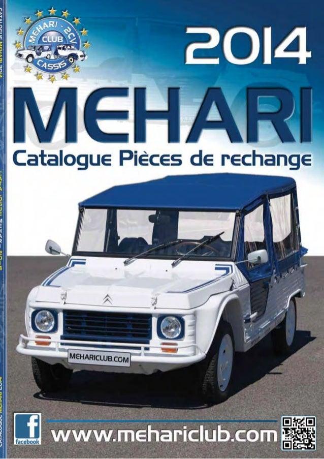 catalogue pieces de rechanges mehari citroen 2014. Black Bedroom Furniture Sets. Home Design Ideas