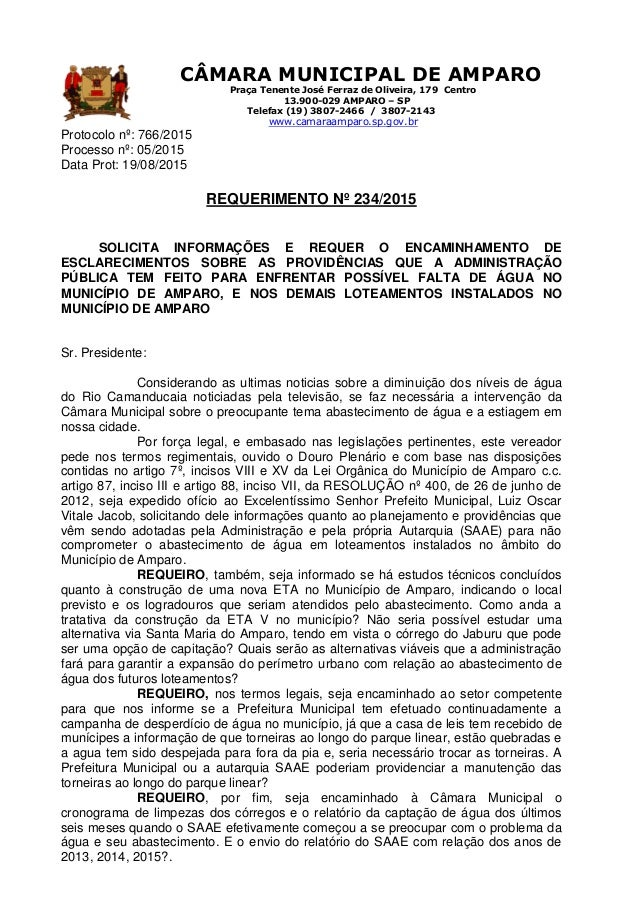 CÂMARA MUNICIPAL DE AMPARO Praça Tenente José Ferraz de Oliveira, 179 Centro 13.900-029 AMPARO – SP Telefax (19) 3807-2466...