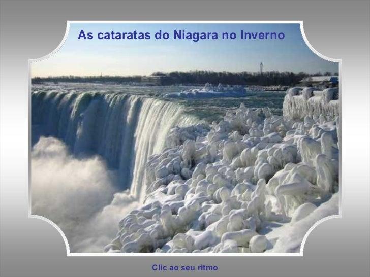 Clic ao seu ritmo As cataratas do Niagara no Inverno