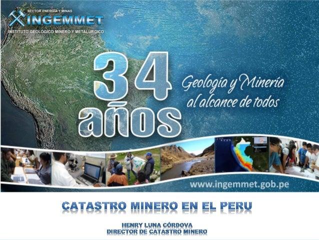 El Perú es un país con Tradición Minera. La minería al igual que la agricultura y la pesca es una actividad ancestral que ...
