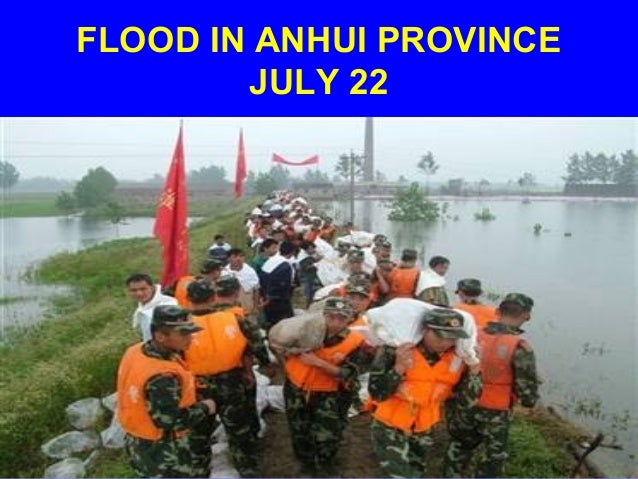 FLOOD IN ANHUI PROVINCE        JULY 22