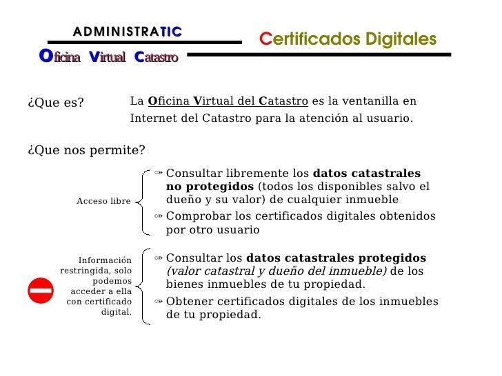 Catastro presentacion for Oficina virtual del catastro