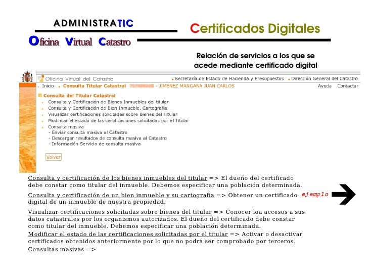 Catastro presentacion for Oficina virtual del catrasto