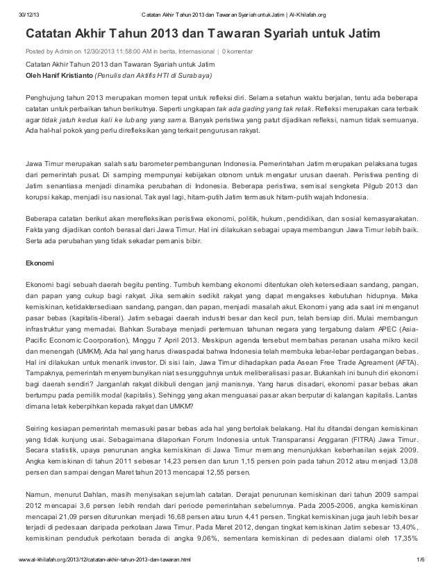 30/12/13  Catatan Akhir Tahun 2013 dan Tawaran Syariah untuk Jatim | Al-Khilafah.org  Catatan Akhir Tahun 2013 dan Tawaran...