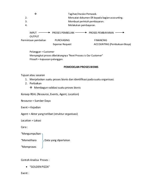 catatan analisa proses bisnis