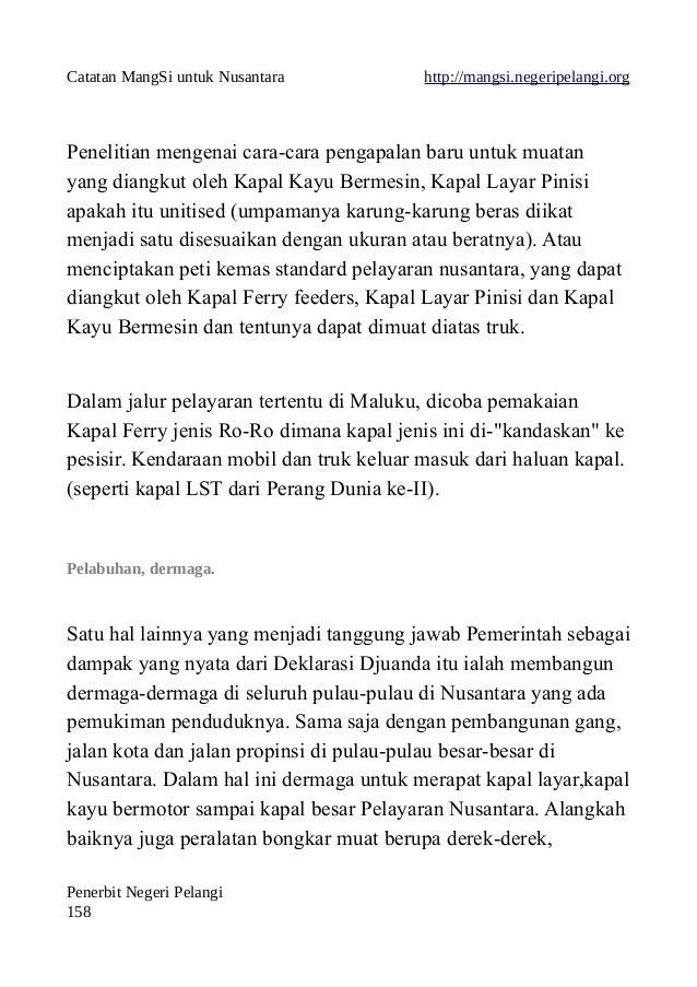 Catatan MangSi untuk Nusantara