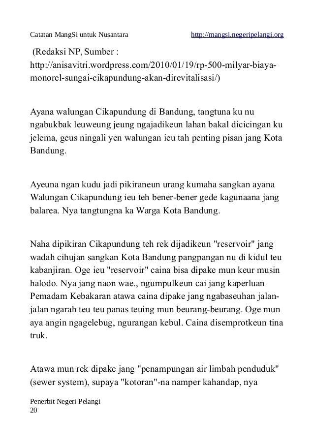 Catatan MangSi untuk Nusantara http://mangsi.negeripelangi.org (Redaksi NP, Sumber : http://anisavitri.wordpress.com/2010/...