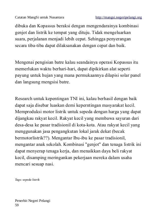 Catatan MangSi untuk Nusantara http://mangsi.negeripelangi.org dibuka dan Kopassus beraksi dengan mengendarainya kombinasi...