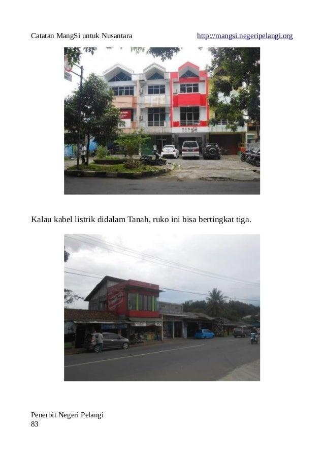 Catatan MangSi untuk Nusantara http://mangsi.negeripelangi.org Kalau kabel listrik didalam Tanah, ruko ini bisa bertingkat...