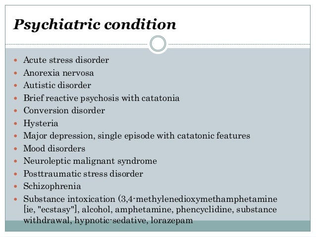 catatonia and neuroleptic malignant syndrome, Skeleton