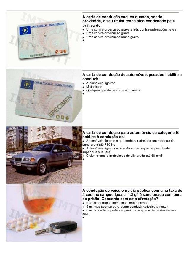 A carta de condução caduca quando, sendo provisória, o seu titular tenha sido condenado pela prática de: Uma contra-ordena...