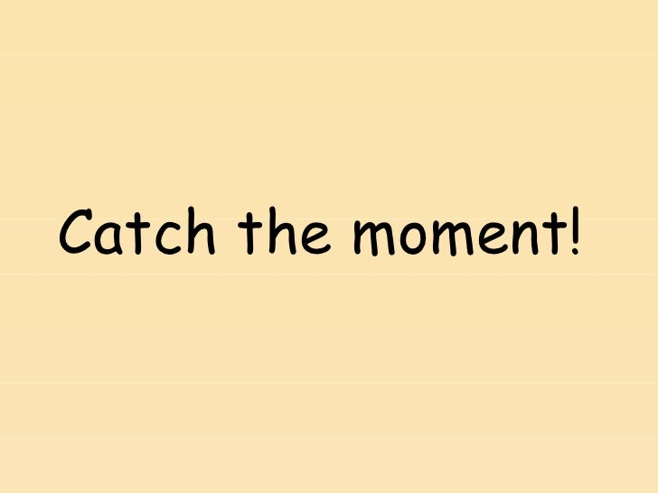 Catch the moment!