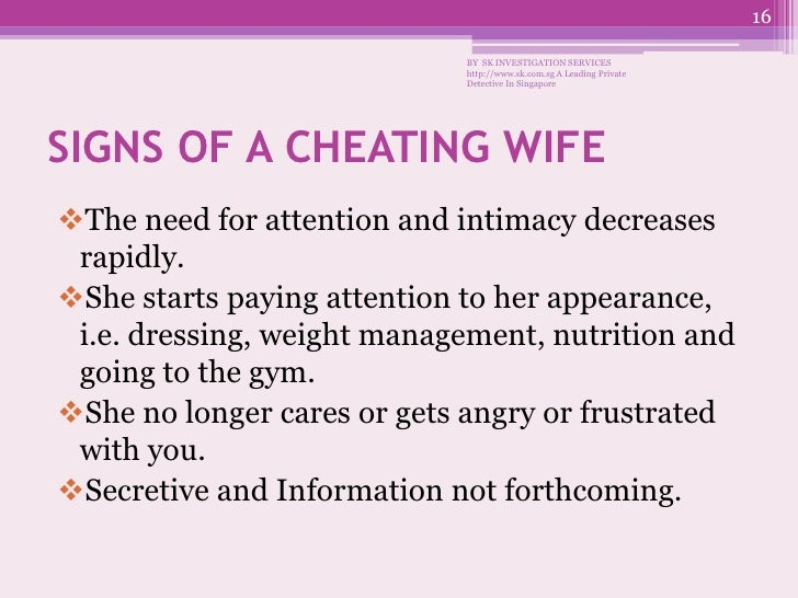 how to deal with a unfaithful wife